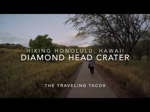 Hiking diamond head crater - the traveling tacos - watching the sun rise over honolulu, hawaii