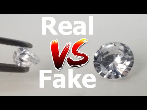 How to check if a diamond is real or fake at home easily