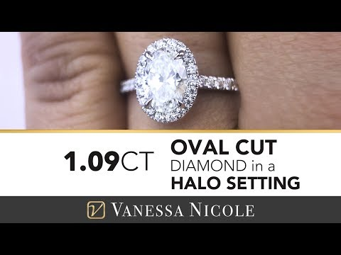 1 carat oval diamond engagement ring – oval halo ring for carli