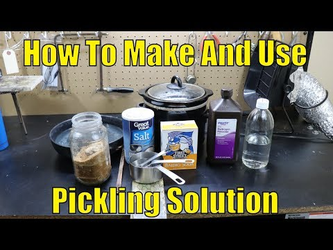 How to make and use pickling solution (cleaning metals)