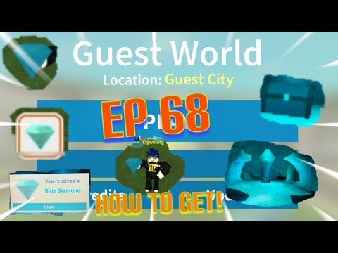 """Roblox- """"guest world!"""" {episode 68} how to get the blue diamond!!!"""