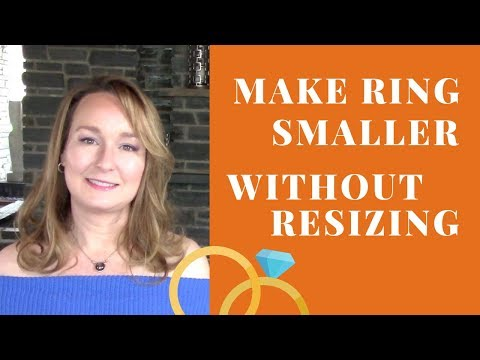 How to make a ring smaller without resizing it
