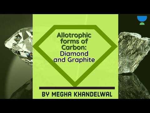Allotrophic forms of carbon: diamond and graphite