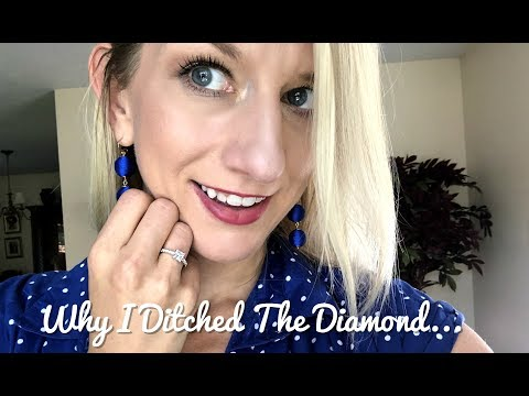 Moissanite vs. diamond   why i ditched the diamond! esdomera ring unboxing and review