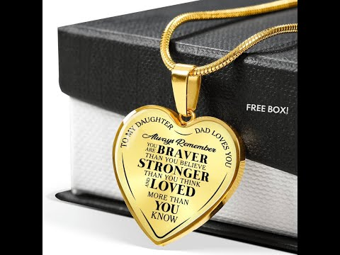 Father daughter braver heart necklace