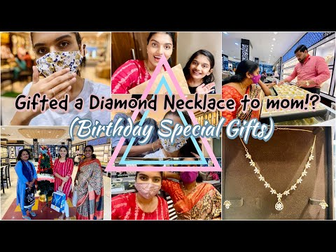 Gifting my mom a diamond necklace set for birthday *by dad*!?|got a diamond ring for myself & more||
