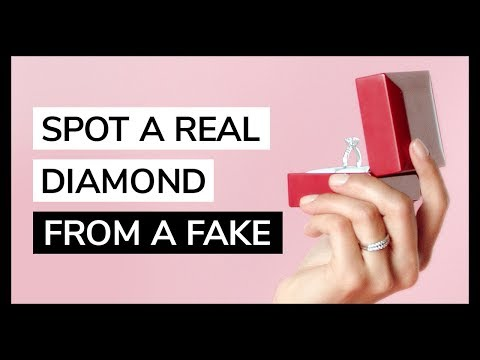 How to spot a real diamond from a fake by jamesallen.com   featuring howheasked