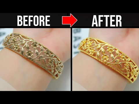 How to clean / polish gold jewelry at home - shiny gold