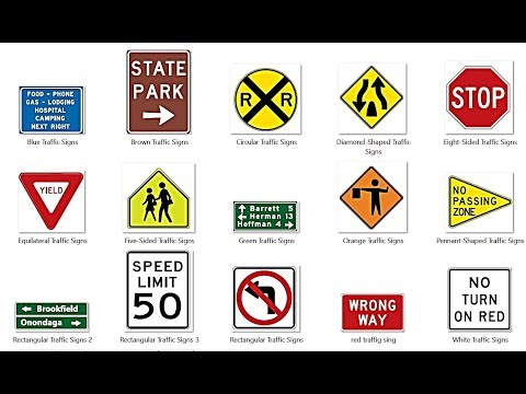 Traffic sign colors meaning :