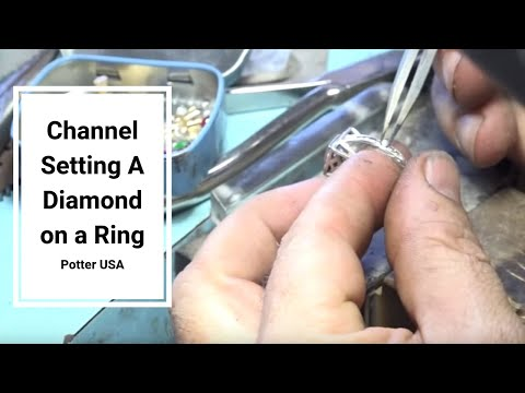How to repair channel setting a diamond on a ring