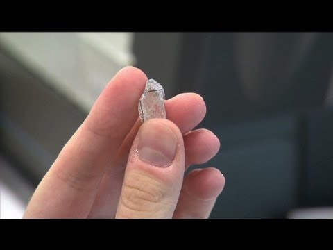 See how diamonds are cut from rocks