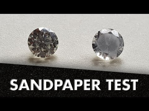 Can you scratch a diamond with sandpaper?