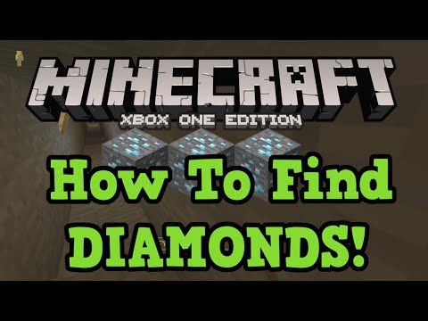 Minecraft xbox one ps4: how to find diamonds (branch mining tutorial)