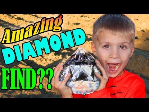 Panning for diamonds & gold in real life!!