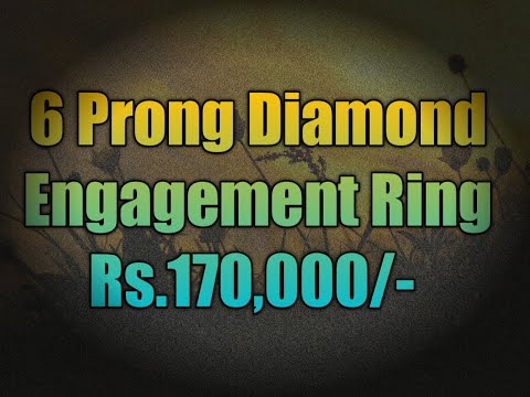 6 prong diamond engagement ring rs 170,000 f vs excellent cut gia certified #bengaluru