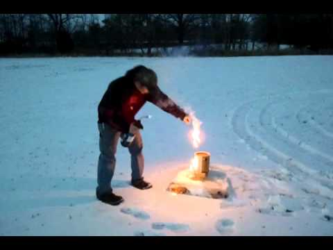 Thermite and ice explosion