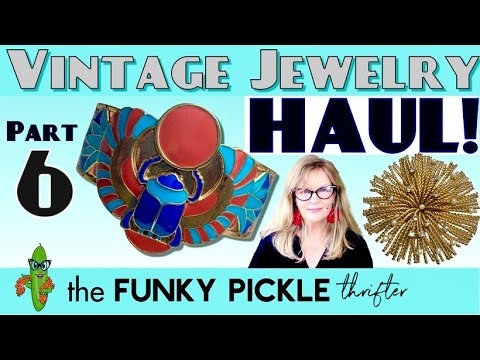 Part 6 antique & vintage jewelry haul how to identify old jewelry 101 learning education