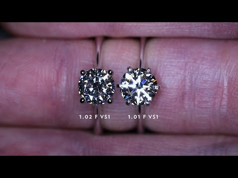 Can you tell which is the better diamond? both of the same gia certificate grades