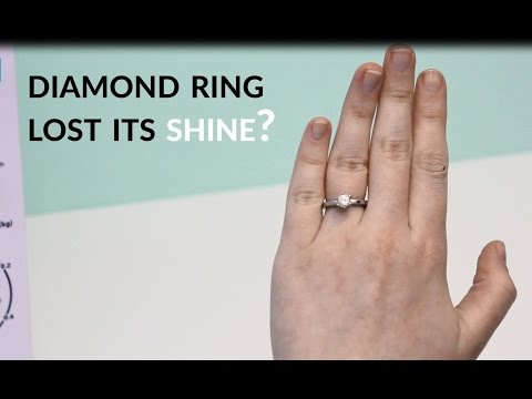 This 1 minute diamond ring cleaner will make yours sparkle