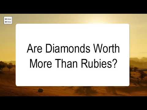 Are diamonds worth more than rubies
