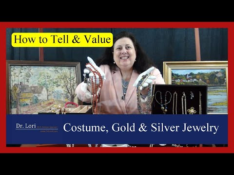 How to tell and value costume, gold & silver jewelry when thrifting by dr. lori