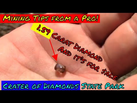 Diamond hunting tips from a pro, and his 1.59 carat diamond!