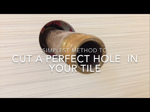 How to cut circle in tile for tub and shower plumbing
