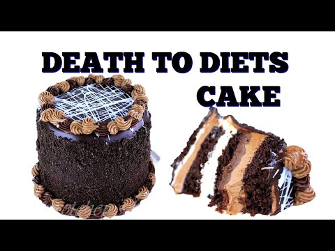 How to make giant 7 layer tower chocolate cake... no diet! all chocolate!