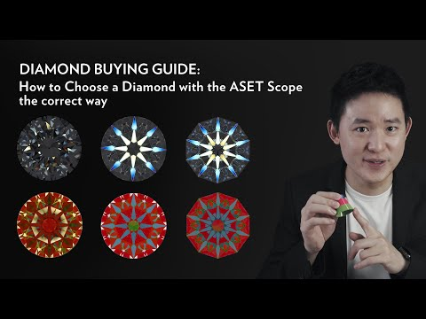 How to choose a diamond with the aset scope the correct way