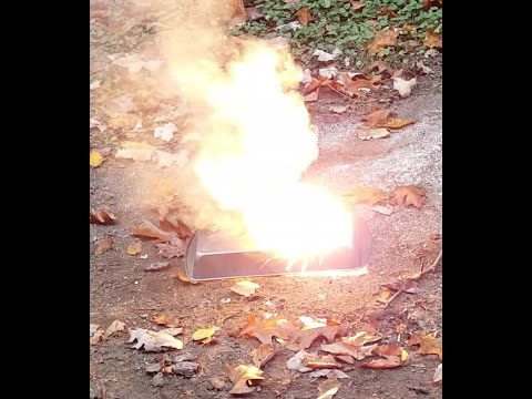 Thermite, the metal-melting chemical reaction!