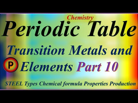 12c1210 periodic table : transition metals and elements steel chemical formula properties production