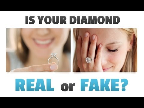 How to check if your engagement ring diamond is real or fake