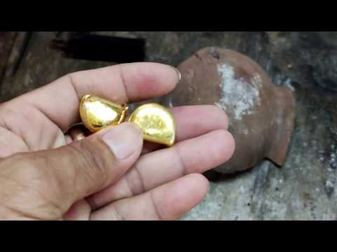 Turn gold jewelry into pure gold bars - smelting gold