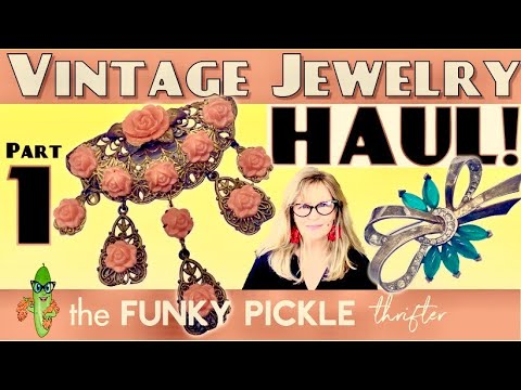 Part 1 antique & vintage jewelry haul victorian mourning bakelite estate unboxing 101 learning about