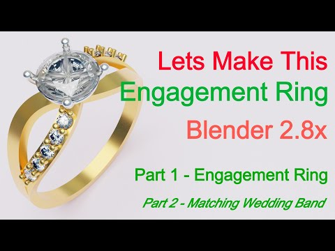 Modeling a diamond engagement ring with blender 2.8 and some add-ons! part 1