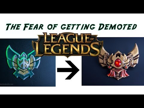 The fear of demotion in league of legends   platinum to gold?   how to play when you feed