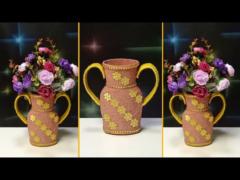 Flower vase made of recycled plastic container | recycled materials using plastic bottles easy