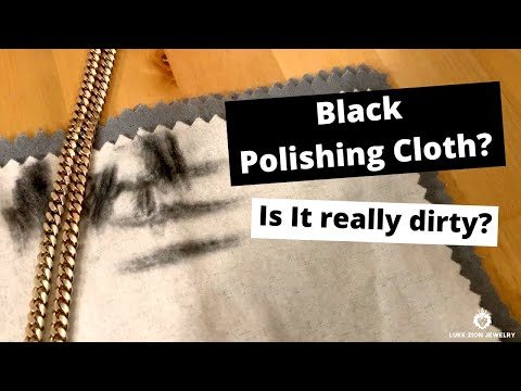 Why does my jewelry polishing cloth turn black? sterling silver