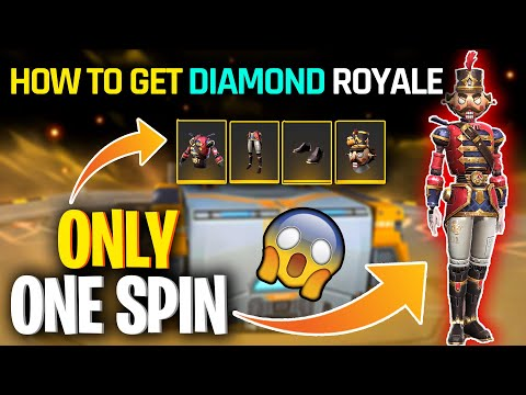 New diamond royale nut cracker bundle | how to get new diamond royale in one spin trick - freefire