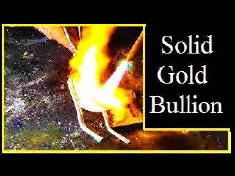 How to turn scrap gold into solid gold bullion: cast jewelry: charm: anything.