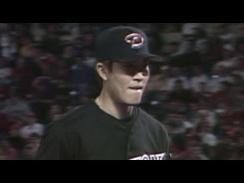 Byung-hyun kim throws an immaculate inning in the 8th