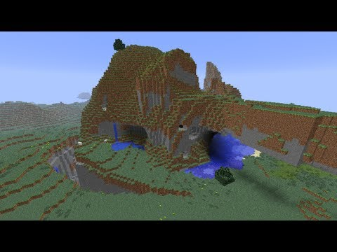 Minecraft - seed with villages, jungle temples, dessert pyramids, strongholds and more!