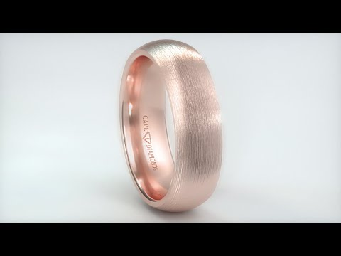 528. half-round textured rose gold 7mm wide 2.5mm thick men's wedding bands cape town