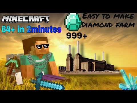 How to make diamond farm in minecraft pe easy way now /anybody can make it/full explained..
