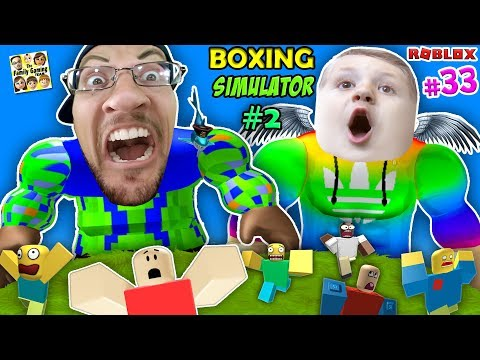 Strongest robloxian ever! fgteev roblox boxing simulator #33 giant cheating 1 punch duddy wrestling