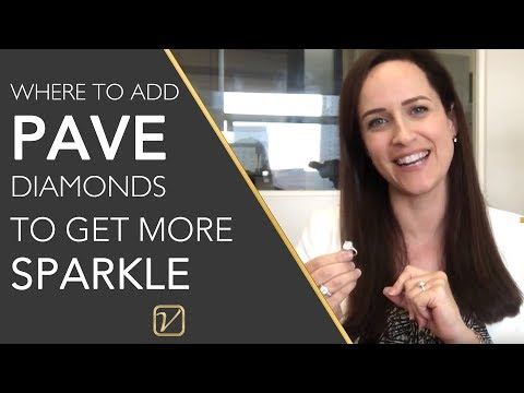 Where to add diamonds on a halo diamond ring to give it more sparkle