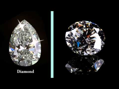 Differences between cubic zirconia, diamond, and moissanite