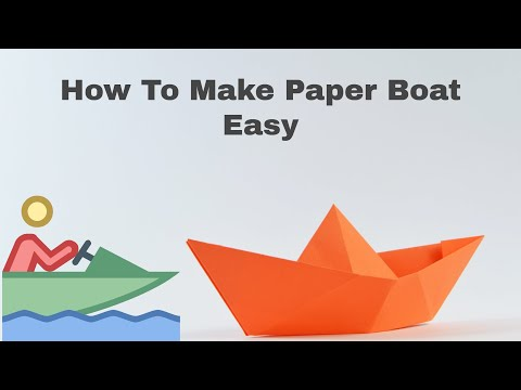 How to make paper boat easy diy