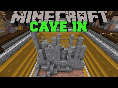 Minecraft: cave in (climb out and avoid falling blocks!) mini-game
