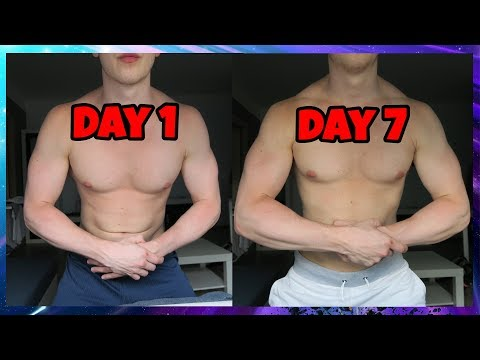 100 diamond pushups every day for a week challenge! before & after results